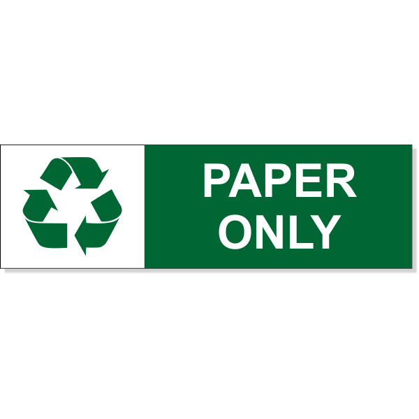 "Paper Recycle Decal | 3"" x 10"""