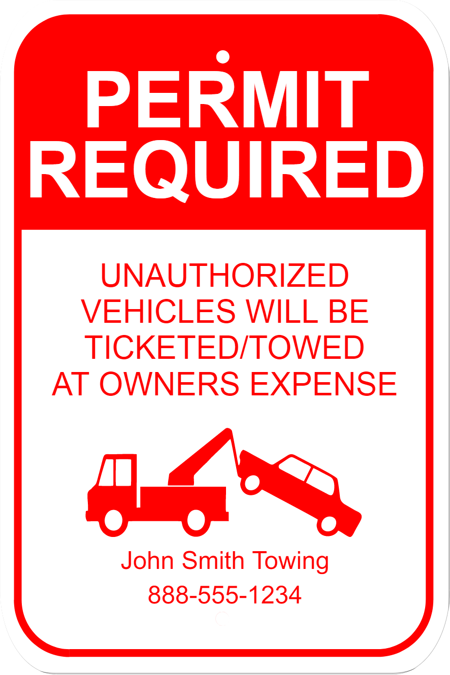 Permit Required Sign | 18