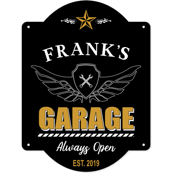 "Personalized Garage Always Open Sign | 16"" x 12"""