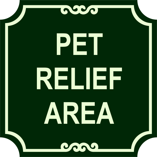 Pet Relief Engraved Sign