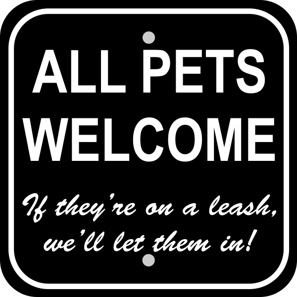 Pets Welcome Sign