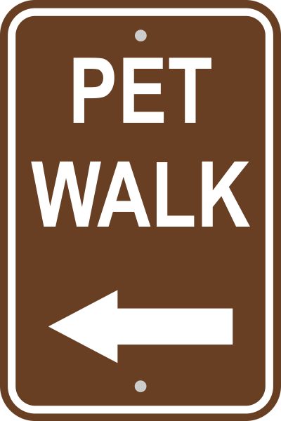 Pet Walk Left Sign