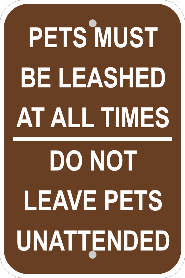 Leashed Pets Sign