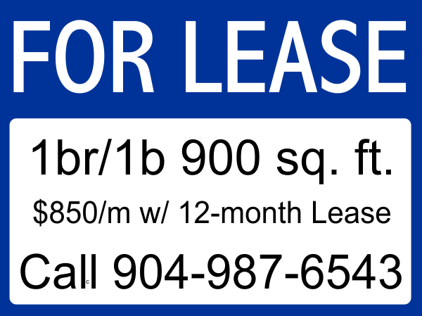 Basic For Lease Sign