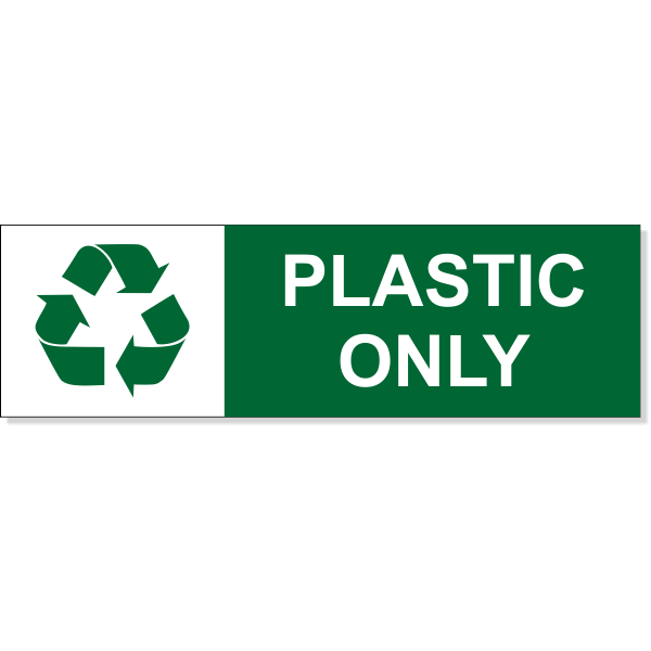 Plastic Recycle Decal | 3