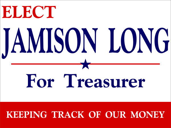 Personal Message Election Sign