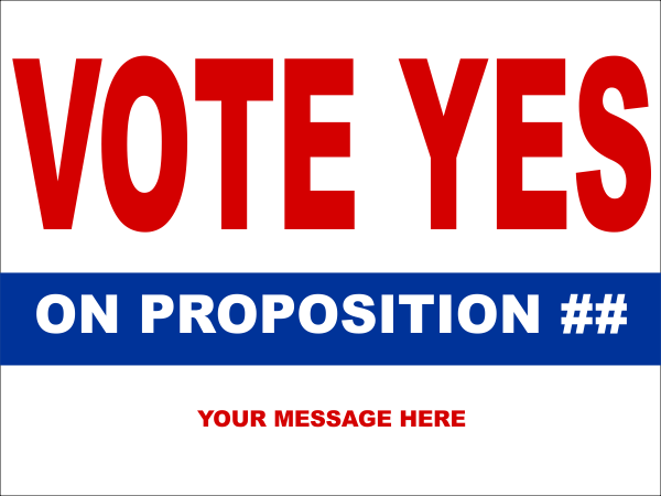 Vote Yes Red Sign