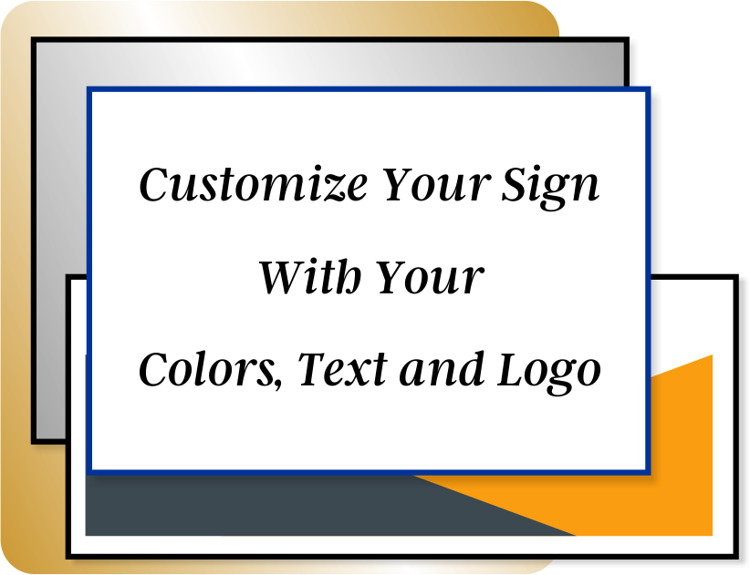 Color Sign Vertical 20 in x 8 in
