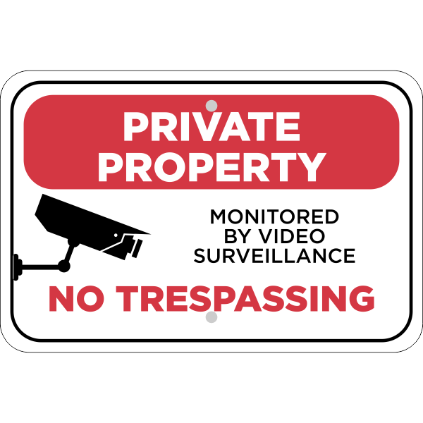 Horizontal Video Monitored Private Property