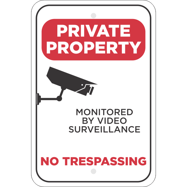 Vertical Video Monitored Private Property