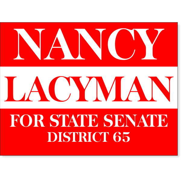 "Red Election Yard Sign | 18"" x 24"""