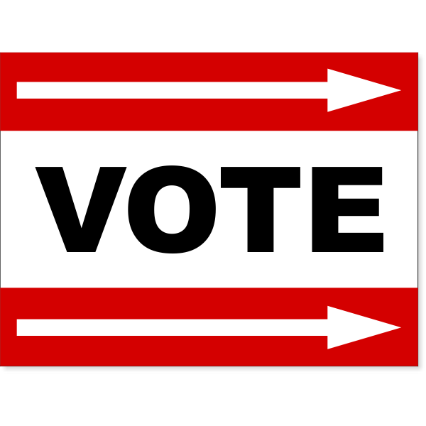 "Red Vote Right Arrow Yard Sign | 18"" x 24"""