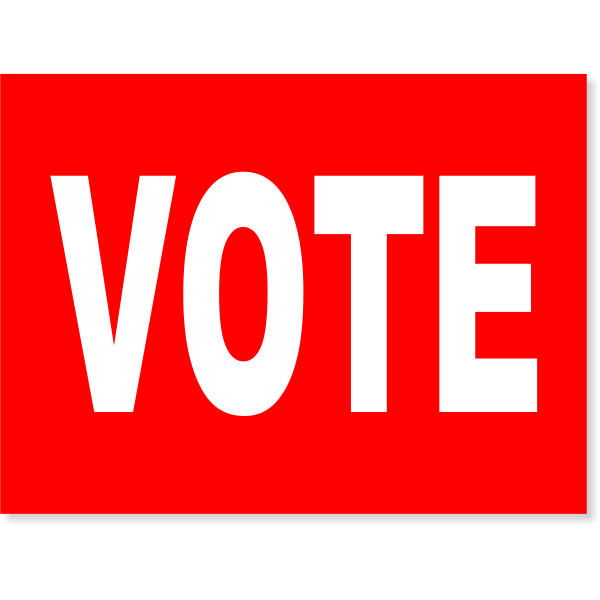 Red Vote Yard Sign