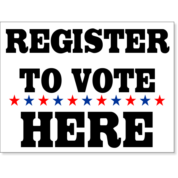 "Register To Vote Here Yard Sign | 18"" x 24"""