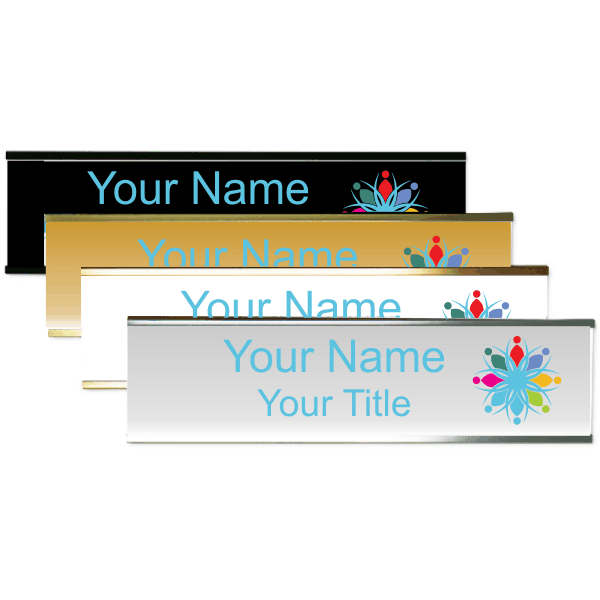 """Right Logo Full Color 2"""" x 8"""" Wall Plate with Holder"""