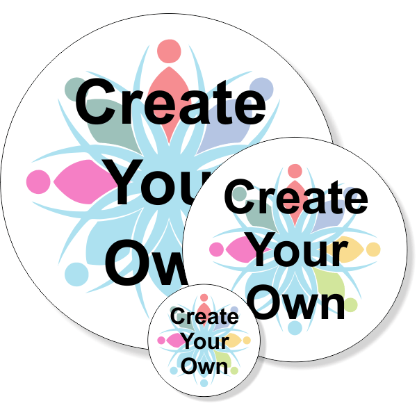 Create Your Own Round Full Color Bumper Sticker   Multiple Sizes