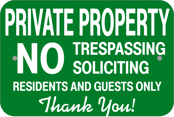 Residents & Guests Only Sign