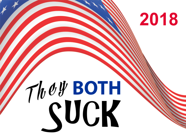 They Both Suck Presidential Election 2016 Yard Sign