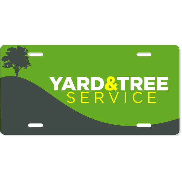 Tree Landscaping Industry Custom License Plate