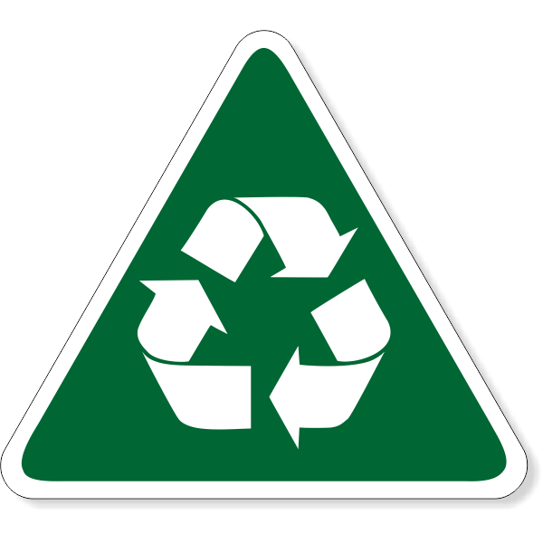 Triangle Recycle Decal | 6