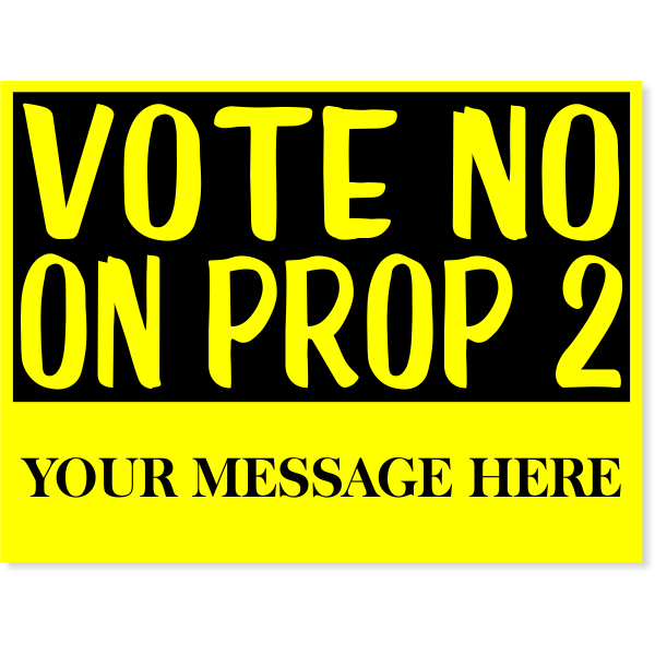 "Vote No Yellow Yard Sign | 18"" x 24"""
