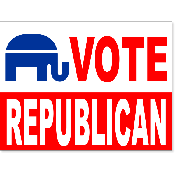 Vote Republican Yard Sign