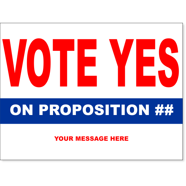 """Vote Yes Red Yard Sign   18"""" x 24"""""""