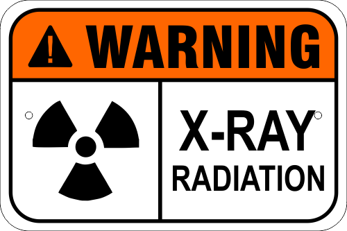 Warning X-Ray Radiation Aluminum Sign