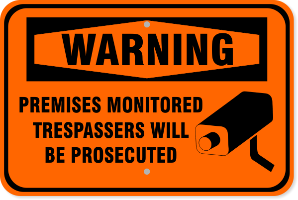 "Warning Premises Monitored Aluminum Sign | 12"" x 18"""