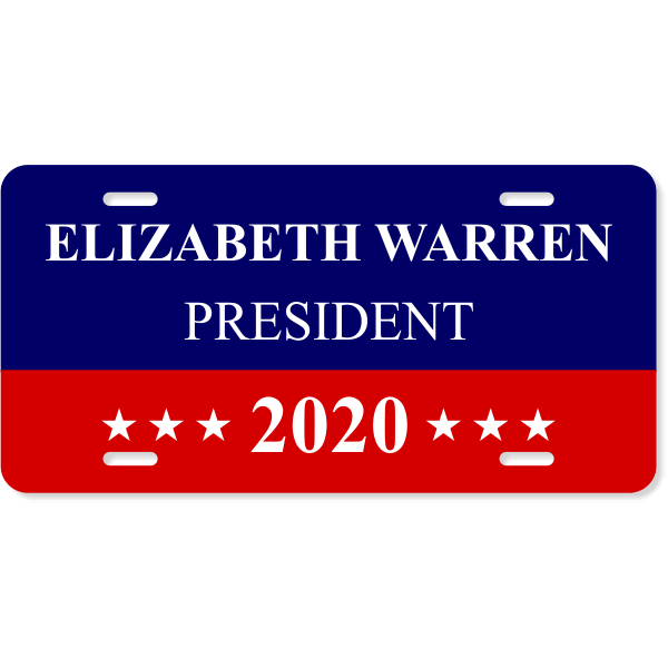 Warren 2020 License Plate