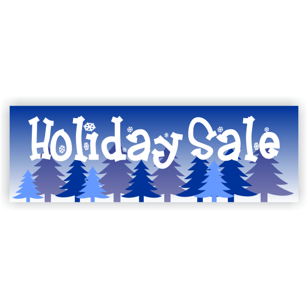Winter Holiday Sale Banner - 2' x 6'