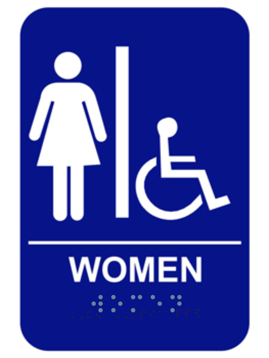 Bathroom Signs With Braille ada braille women's handicap restroom sign - custom signs