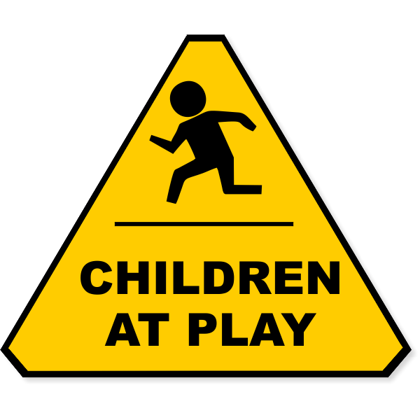 """Yellow Children At Play Decal 