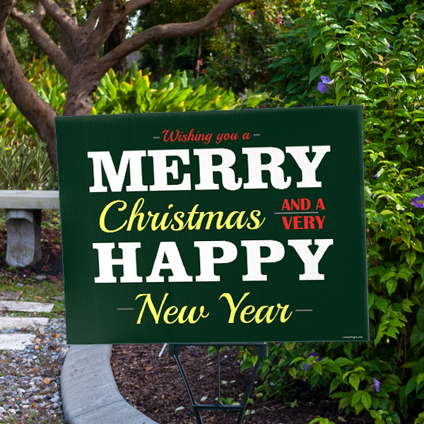 Have a Very Happy New Year Holiday Yard Sign