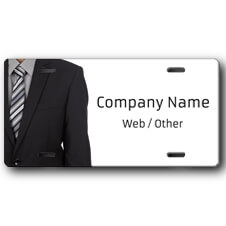 Business Man in Suit Front License Plate