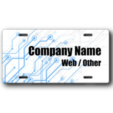 Circuit Board Tech Business Front License Plate