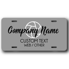 Photography Studio Front License Plate
