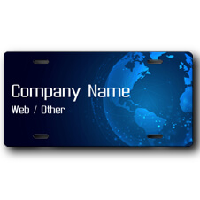 Technology Business Front License Plate