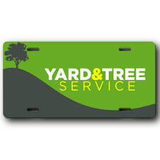 Landscaping Business Front License Plate
