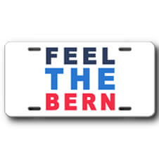 Feel the Bern Front License Plate