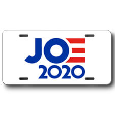 Joe 2020 Front License Plate