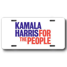 Kamala Harris For the People Front License Plate