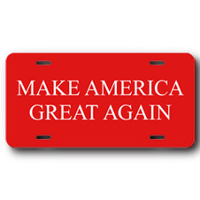 Make America Great Again Front License Plate