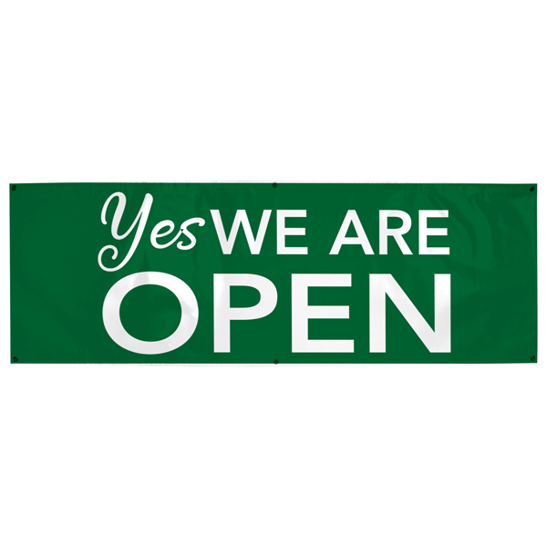 Yes We Are Open Banner