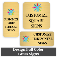 Full Color Brass Signs