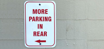 More Parking in Rear Sign