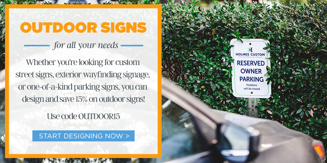 15% Off Outdoor Signs