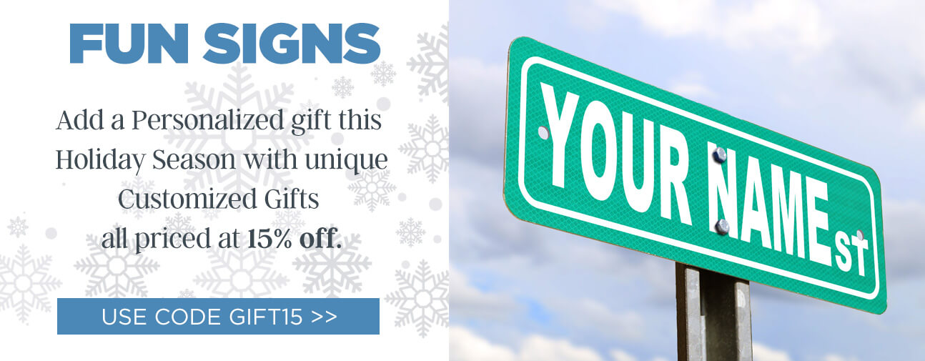 Custom Street Signs for the Holidays!