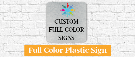 Color Plastic Sign