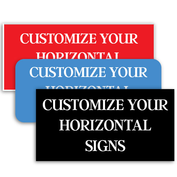 Plastic Engraved Horizontal Signs